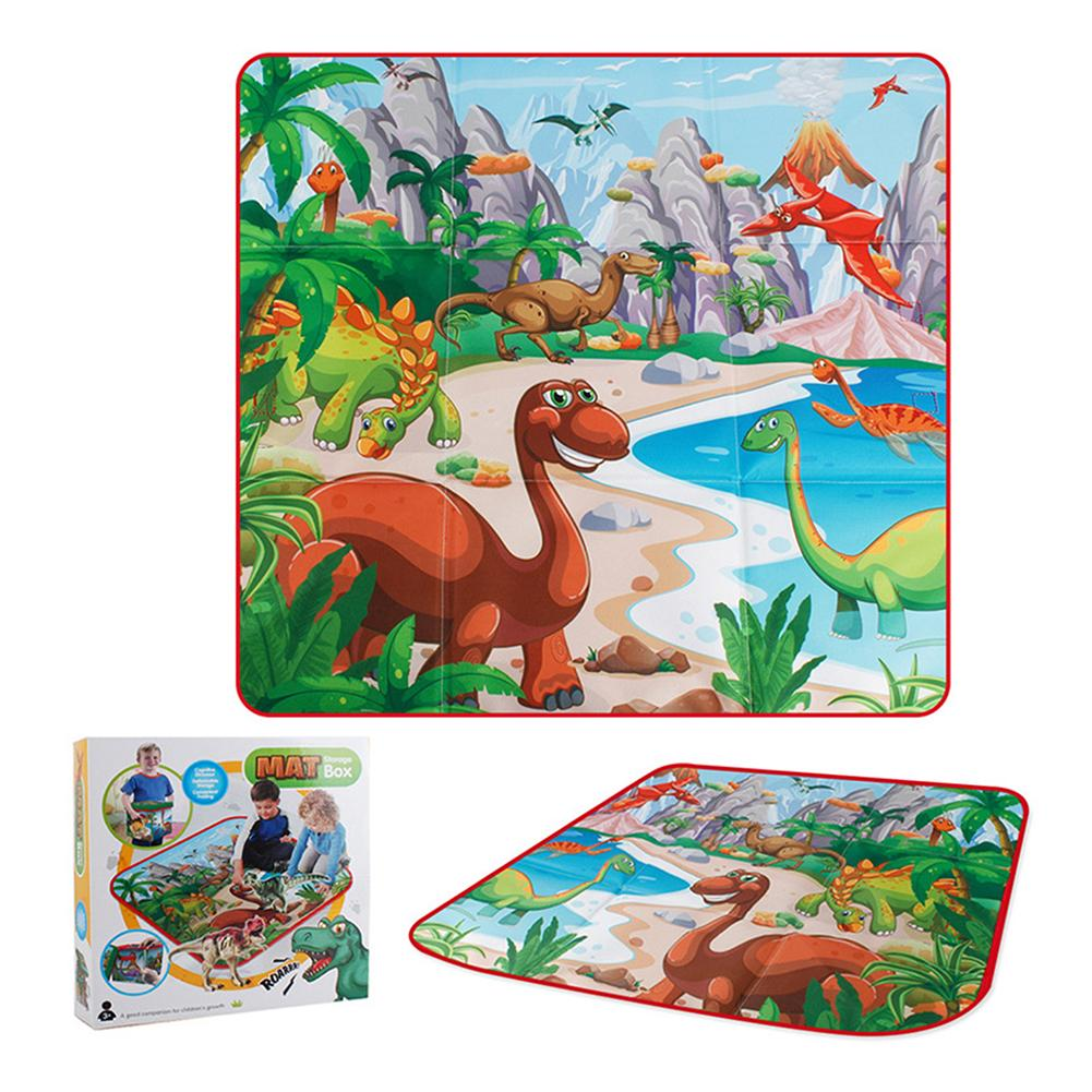 Baby Crawling Blanket Delicate Design Practical Games Floor Mat Personality Dinosaur Carpet Rugs Toys Storage Box