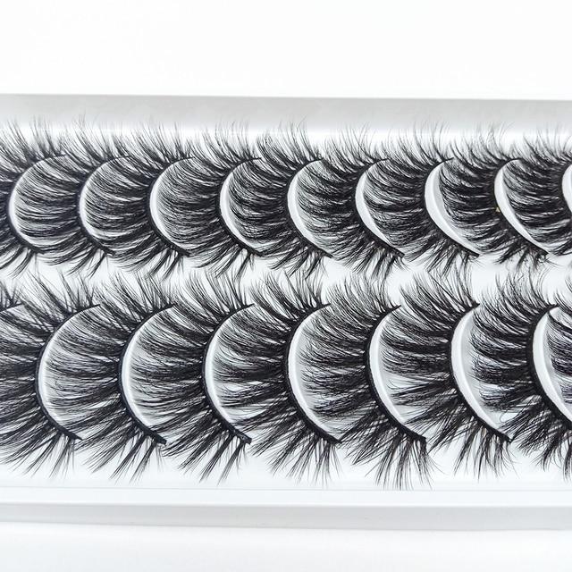 5/10/20Pairs 3D Mink Lashes Natural Mink False Eyelashes Dramatic Volume Fake Eyelash Extension Faux Cils Wholesale Makeup Tools 6