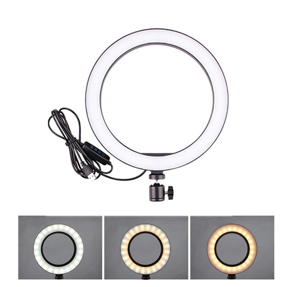 NEW 36 Dimmable LED Selfie Ring Light Youtobe Photography Studio Phone Video USB Plug live streaming Ring Lamp With MiNi Tripod|Photographic Lighting| |  - title=