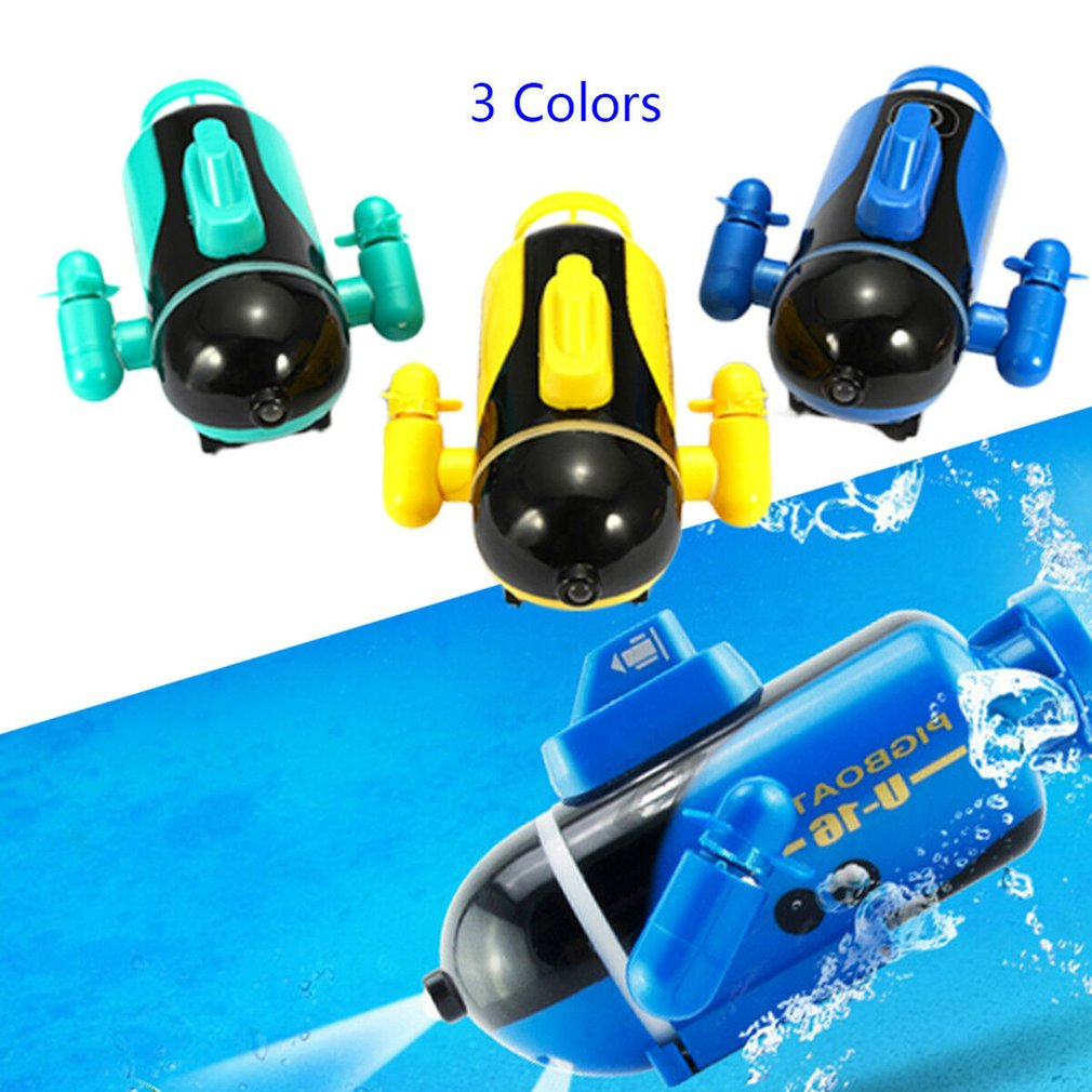 Mini Radio Racing RC Submarine Remote Control Boat Toy Gift With LED Light Light RC Toy Gift Colors Waterproof