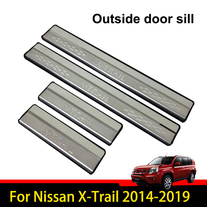 For Nissan X trail Accessories 2014-2019 Steel Door Sill Protector Scuff Plate