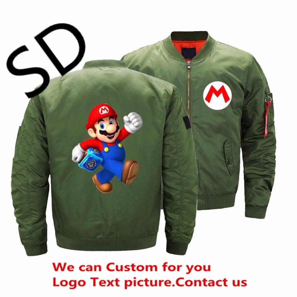 Super Mario Bros Winter Bomber Jacket Coat