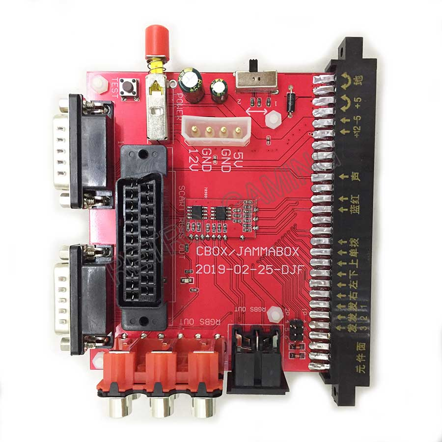 SNK Motherboard JAMMA To DB 15PIN Joypad Convert Board JAMMA CBOX Converter With SCART Output For Color Monitor