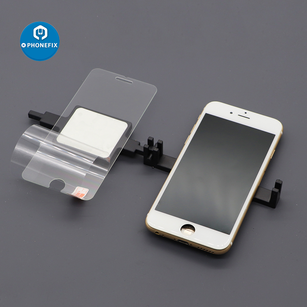 PHONEFIX Cell Phone Screen Protector Film Cover Attach Holder DIY Tools For IPhone Repair Samsung Huawei Screen Attach Holder