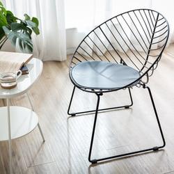 Silla de viento de hierro del norte de Europa, silla de comedor moderna concisa para reunión de cafetería, silla de negociación