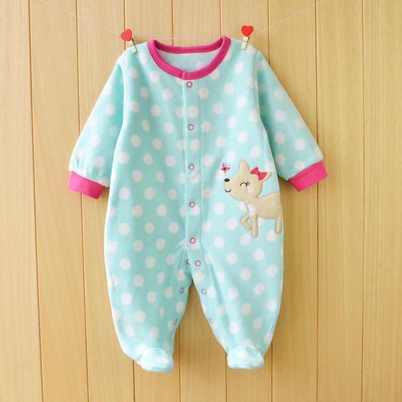 Macacão de bebê outono inverno natal traje do bebê de manga comprida menino menina macacão polar velo roupas para bebês recém-nascidos