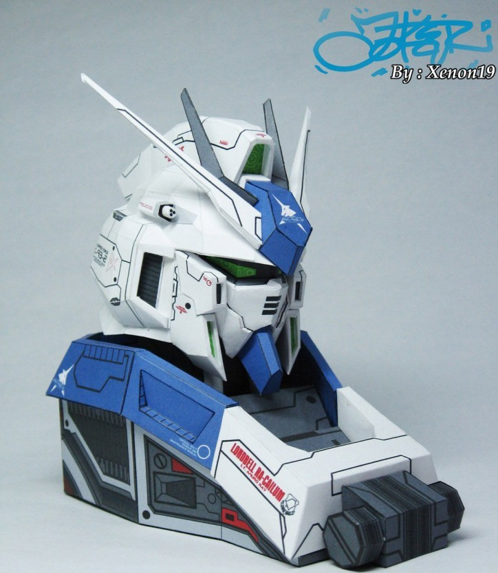 RX-93-2 HI-V Manatee Gundam Bust Paper 3D Model