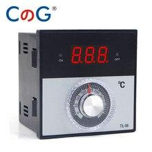 CG 96*96mm Knob AC 220V 380 24V 0- 300 400 1200 Grad K J PT100 Typ Relais Digitale Thermostat Display Temperatur Controller