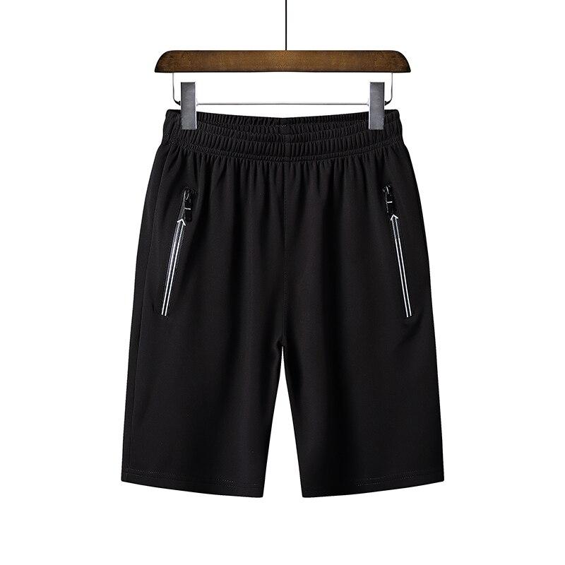 6XL Summer Quick Dry Shorts Men Elastic Waist Shorts With Pocket Men Casual Pure Color Breathable Shorts Hoome Beach Short Pants
