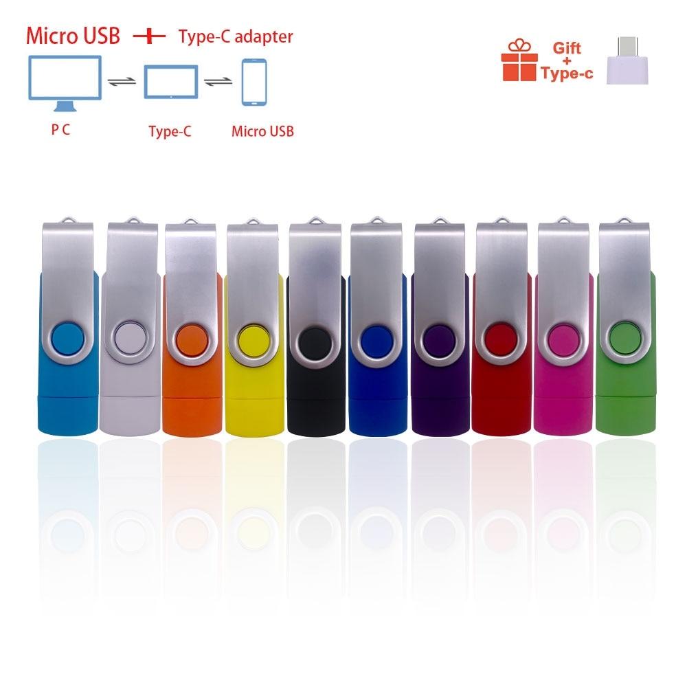 Вращающийся Смарт-флеш-накопитель USB OTG, 2,0, 64 ГБ, 32 ГБ, 16 ГБ, 8 ГБ, 4 Гб, флешка, карта памяти, флешка, Android OTG, логотип USB Key