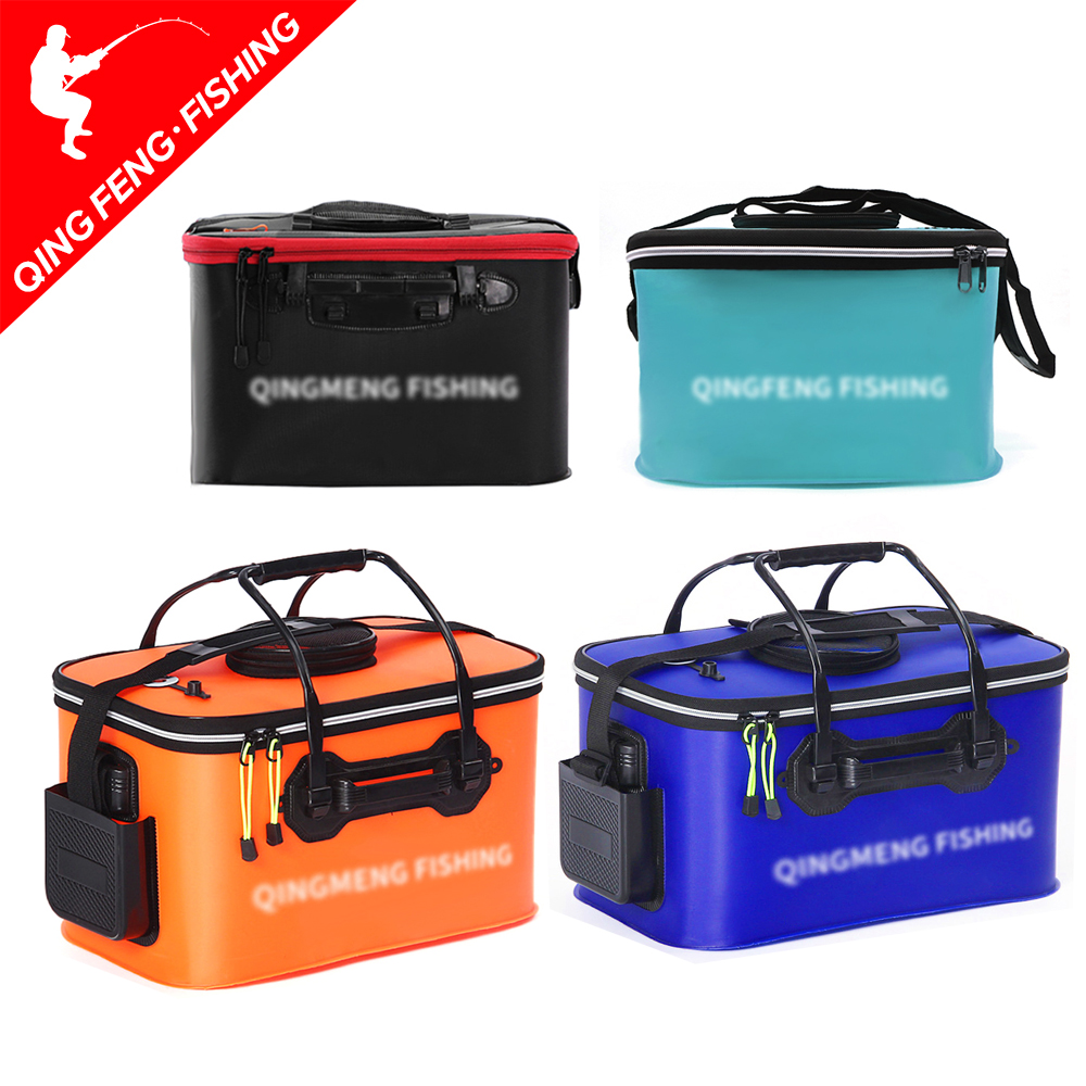 Foldable Fishing Bucket EVA Material Fishing Special Live Fish Tank Easy Clean