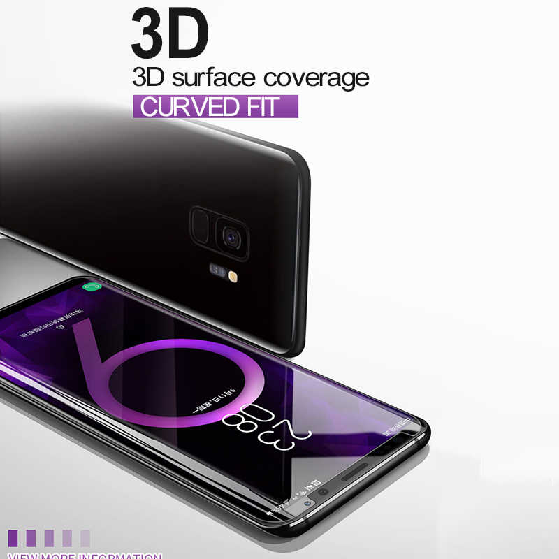 BoeYink UV الغراء خفف زجاج عليه طبقة غشاء رقيقة لسامسونج S8 S9 S10Plus غطاء كامل UV واقي الشاشة السائل لسامسونج نوت 8 9 10 Plus