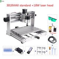 CNC3018MAX Small DIY Mini Desktop Engraving Machine Laser CNC Two in One Wood Engraving Machine
