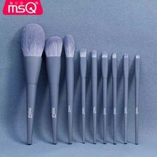 9PCS/SET Makeup Brushes Set Foundation Powder Blush Fiber Brushes Lip Eye Brushes With Cosmetic Bag Concealer Cream Blender