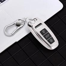 Neue Tpu Für Audi Schlüssel Abdeckung Fall Protector TPU Für Audi A6L A7 A8 Q8 E-tron C8 D5 2019 2020 auto Schlüssel Abdeckung Halter Shell Haut