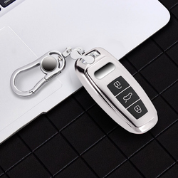 New Tpu For Audi Key Cover Case Protector TPU For Audi A6L A7 A8 Q8 E-tron C8 D5 2019 2020 Car Key Cover Holder Shell Skin