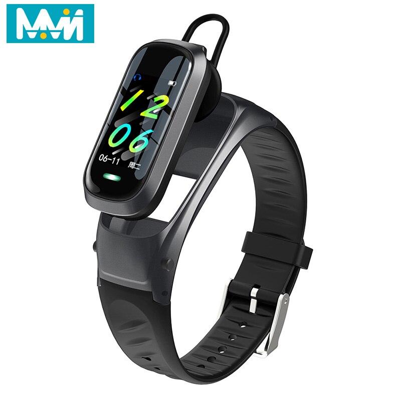 2020 New B9 Smart watch product Wireless earphone Heart Rate Blood Pressure Fitness Bracelet Bluetooth Headset Wristband