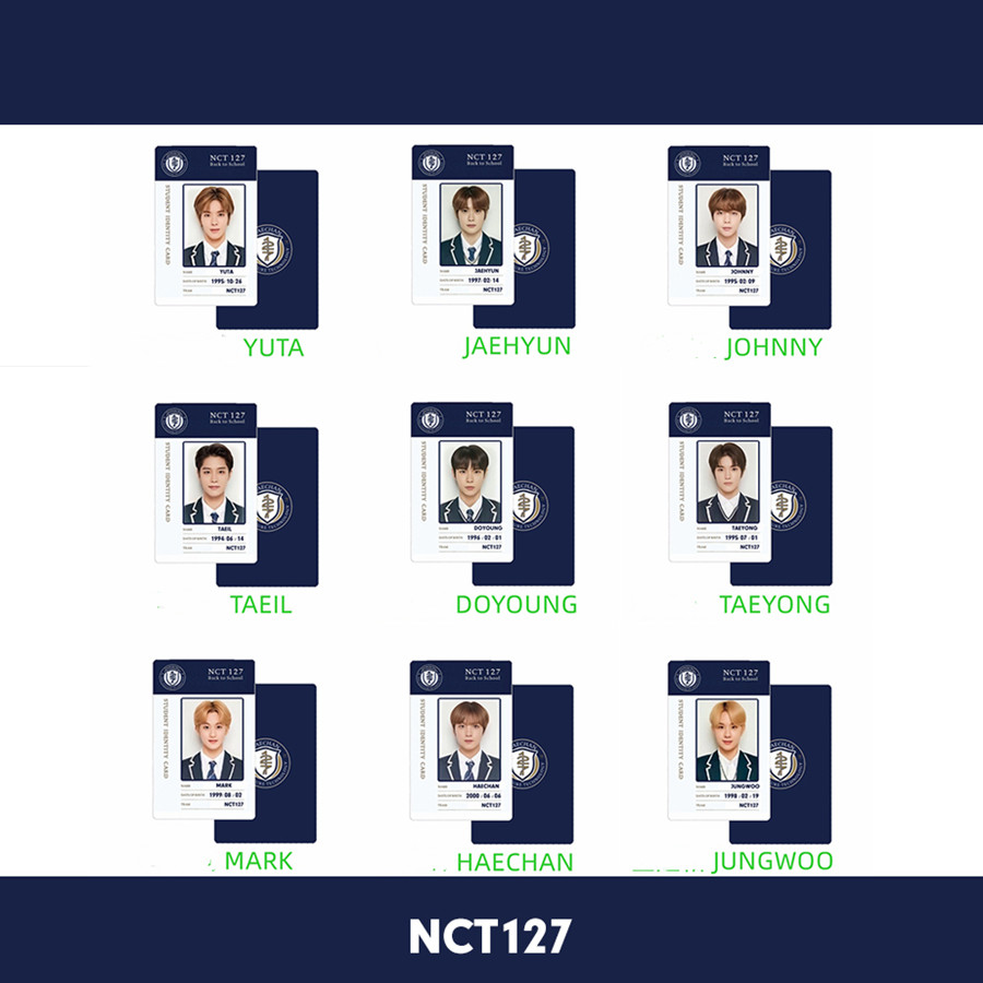 Kpop NCT127 PVC Photo Card NCT Autograph Photocard Taeyong Haechan Jungwoo Taeil Collective Card