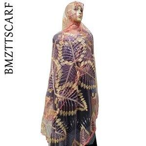 Image 5 - חדש נטו אפריקאי נשים צעיף רקמת נשים צעיף, באיכות גבוהה נטו צעיף, רך חומר צעיף