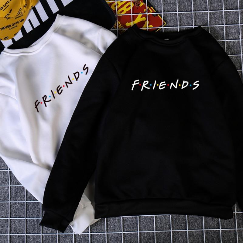 Womens Letters FRIENDS Print Long Sleeve Hoodie Sweatshirt Ladies Slouch Pullover Jumper Tops 5 Colors S M L XL Brand New 2019