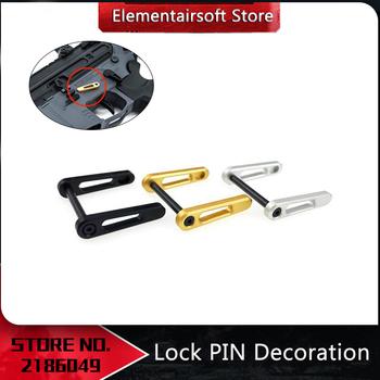 Element Airsoft Rowsfire blokada na pin dekoracja konkurencyjna wersja dla JM Gen 9 HK416 TTM 556 modyfikacja odbiornika wystrój tanie i dobre opinie Akcesoria metal