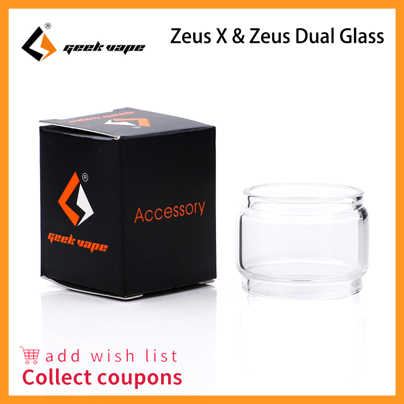 Original GeekVape Replacement Glass Tube Bubble For Zeus Dual/Zeus X Capacity 5.5ml Tank Atomizer Fit Nova Kit 200w Box Mod