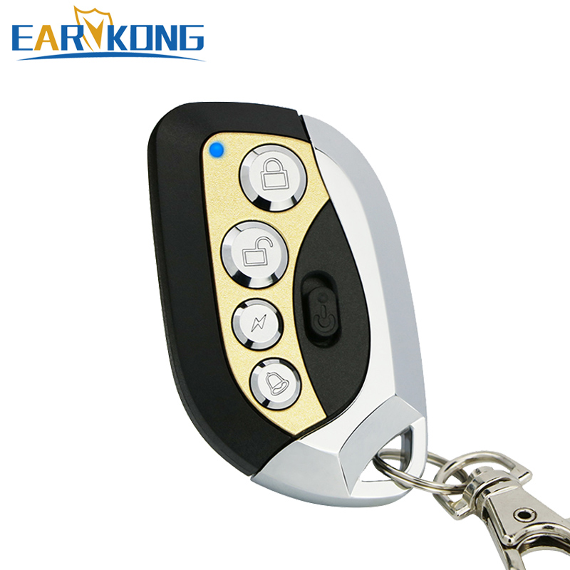 433MHz wireless remote controller metal material with Power Switch Protection new designed  for 433MHz home burglar alarm system
