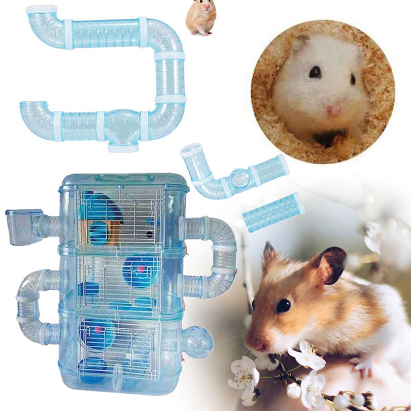 External Connection Tunnel Track Tube Toy For Hamster Sports New Year Pet Toy Small Animal Gifts