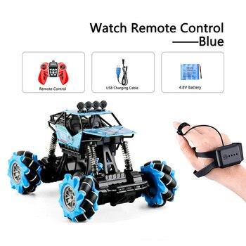 1:16 Rc Autos 4wd Uhr Control Geste Induktion Fernbedienung Auto Maschine Fur Radio-gesteuert Spielzeug Autos Stunt-Auto - RcCar001-Blue
