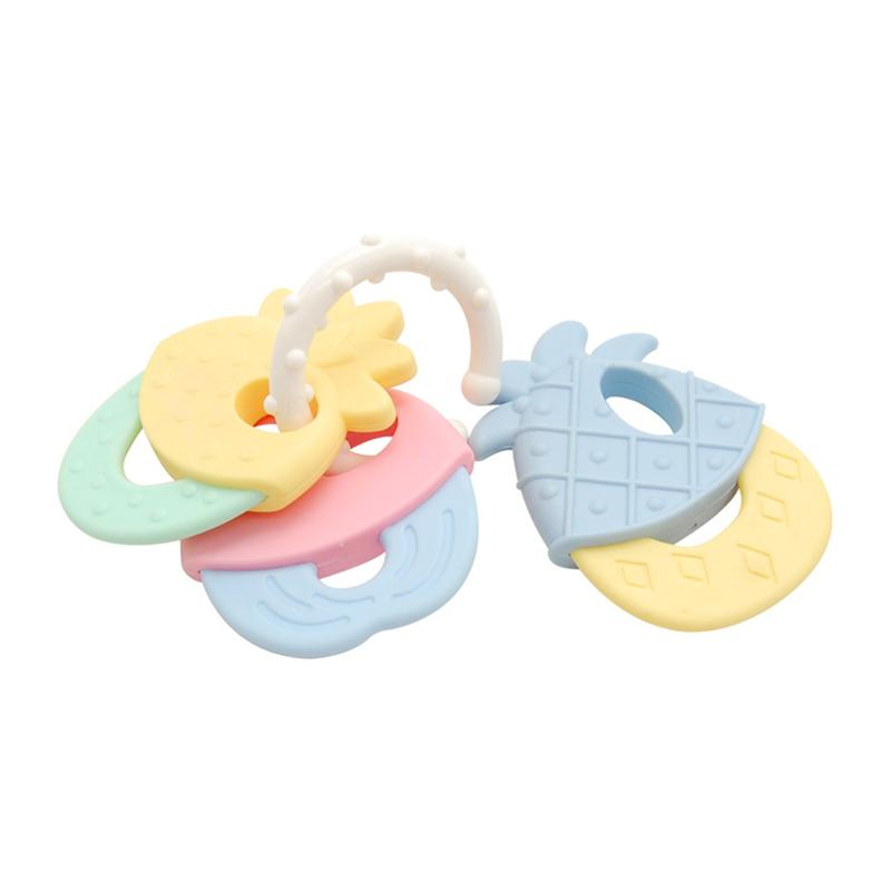 Cool And Chew Teether Keys Baby Rattle And Teether Ring Educational Developmental Toy For Baby Toddler