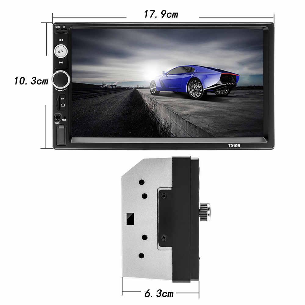 """Podofo 2 Din Radio samochodowe z Bluetooth 7 """"ekran dotykowy Stereo FM Audio Stereo odtwarzacz MP5 SD USB 12V HD 2din magnetofon kasetowy Stereo"""