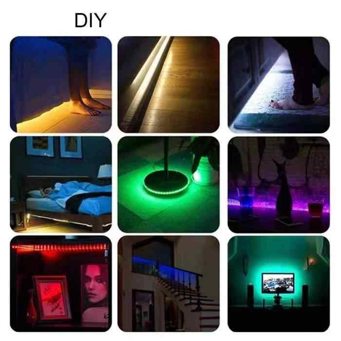 Led sob a luz do armário com adesivo lâmpada de parede armário armário da cozinha quarto gaveta luz da noite