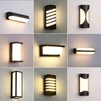Outdoor Wand Lampe Moderne Minimalistischen Lichter IP65 Wasserdichte Wand Licht Balkon Flur Treppe Schlafzimmer Wohnzimmer Lampen 3000K