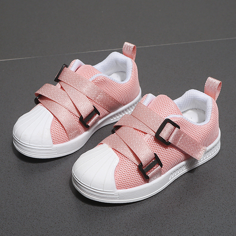 New 2020 children's flats casual shoes spring summer breathable kids mary janes shoes hook&loop loafers toddler girls flats