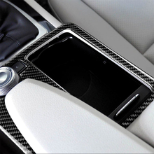 car styling interior buttons panel decoration cover trim sticker frame for mercedes benz c class w204 2011 2014 auto accessories Carbon Fiber Interior Decoration Gear Panel Frame Cover Trim for Mercedes Benz W204 W212 C Class E Class RHD Car Decal Sticker