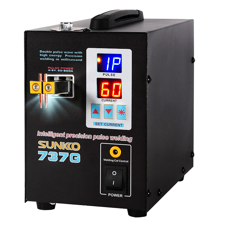SUNKKO 737G 1.5kw Spot Welding Machine LED Display Precision Pulse Battery Spot Welder For Welding 18650Battery And Nickel Strip