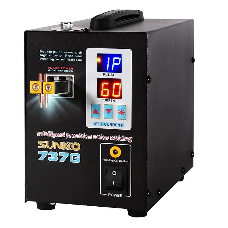 SUNKKO 737G 1.5kw Spot Welding Machine LED Display Precision Pulse Battery Spot Welder For Welding 18650Battery And Nickel Strip