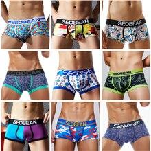 29 estilos de impressão roupa interior masculino boxer algodão sexy u bulge gay underware boxers shorts homem cueca troncos marca qualidade