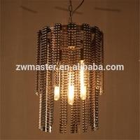 top quality 3 bulbs chain curtain retro ceiling E27 pendant light