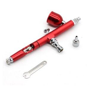 Image 5 - Kit daérographe double Action avec compresseur, pistolet de pulvérisation, pour maquillage, Nail Art, tatouage, décoration