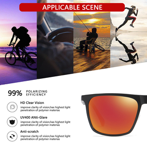 Image 2 - AOFLY BRAND DESIGN Aluminum magnesium Polarized Sunglasses Men 2020 Fashion Square Driving Fishing Mirror Sun glasses Male UV400