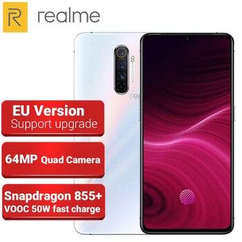 Перейти на Алиэкспресс и купить Версия ЕС Realme X2 PRO 8 ГБ 128 Гб мобильный телефон 64-мегапиксельная четырехъядерная камера 6,5 дюймSnapdragon 855 + 4000 мАч VOOC 50 Вт Быстрая зарядка NFC 4G телефон