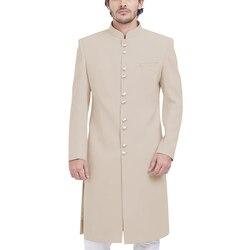 Формальное длинное мужское пальто, Элегантное повседневное пальто Sherwani, воротник Мандарин, Свадебный халат жениха, для банкета, вечеринки, ...