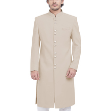 Formal Long Men Coat Elegant Outdoor Daily Sherwani Mandarin