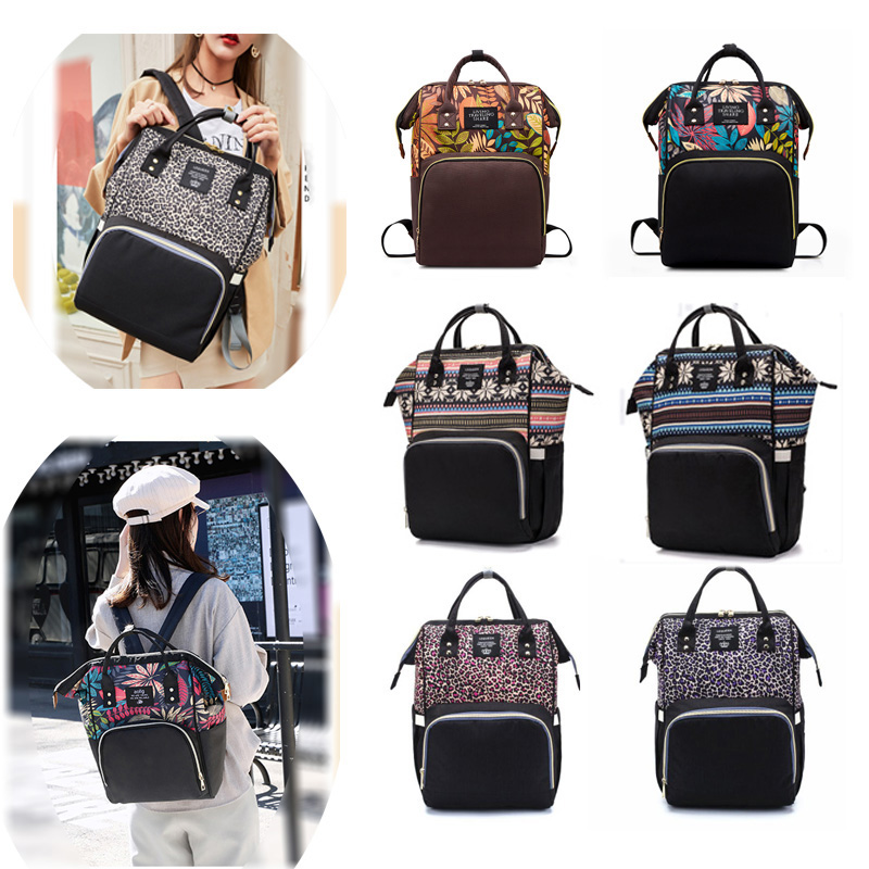 Fashion Multi-style Baby Stroller Backpack Mum Diaper Bag Mommy Handbag Maternity Nappy Bag Outdoor Travel Baby Care Wetbag