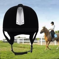 2019 Fashion Equestrian Helmet Adjustable Velvet Polo Cap Safety Headdress Protective Bumper Cap Equestrian Equipment