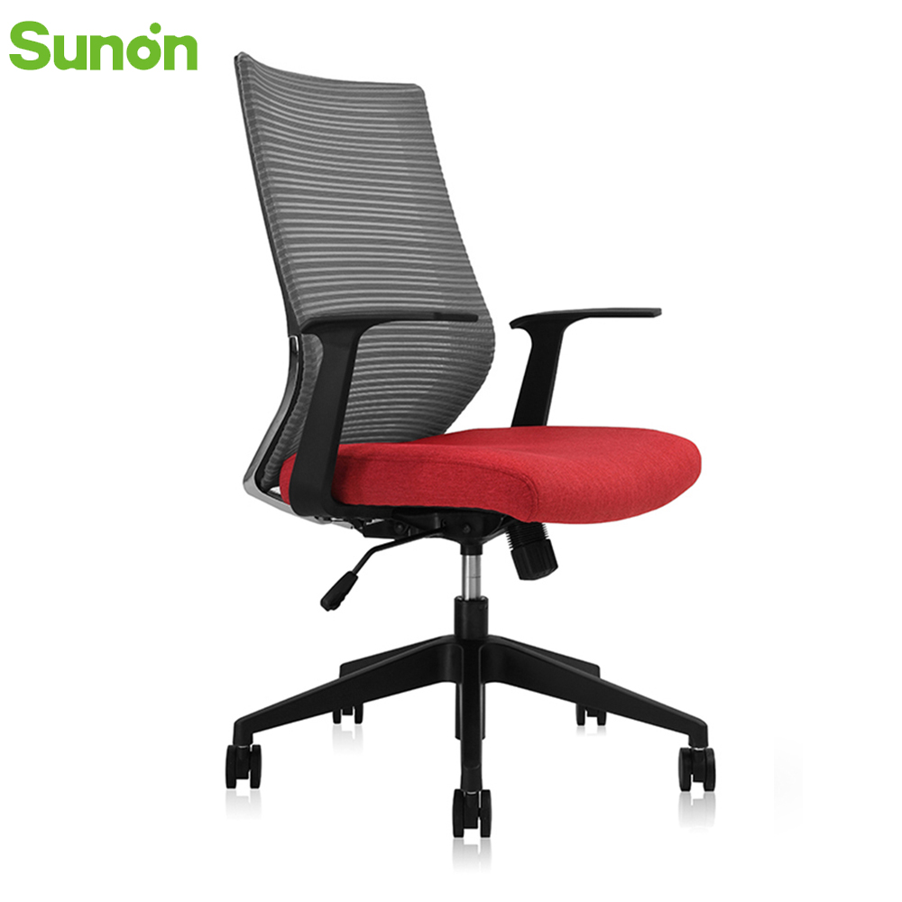 High Quality Mesh Red Seat Office Chair STG Reclining Gaming Chair High Back Lying Computer Chair Nylon Frame Chair