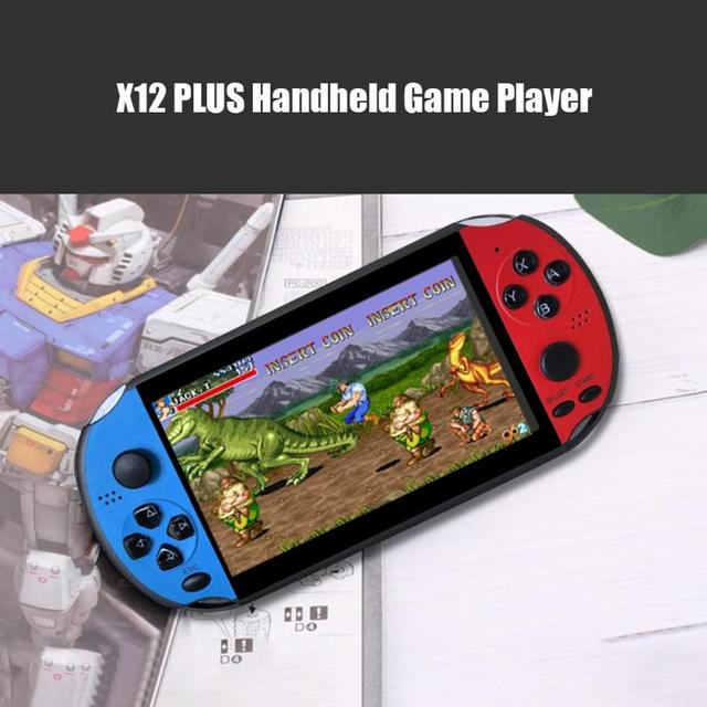 X12PLUS 8GB Retro PSP Handheld Video Game Player 5.1 Inches Built-in 2000 GBA FC NES Games Supporting Camera and 30W Pixels 2