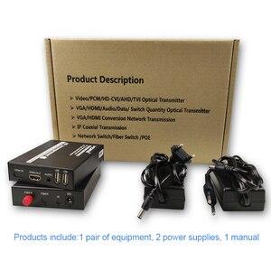 Image 5 - HDMI sur la prise en charge du convertisseur de fibres 1080P non compressé HDMI audio vidéo sans perte sans retard jusquà 20KM dextension