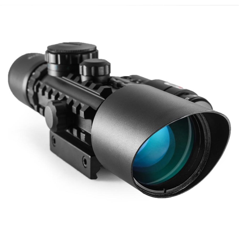 Combo 3 Optics Sight Hunting Scope  Scope Riflescope 10x42EG Reflex Green Tactical Red Hunting Dot Reticle
